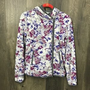 Lucky Lotus Lucky Brand Floral Zip Up Sweatshirt